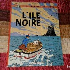 Cómics: TINTIN L'ILE NOIRE CASTERMAN 1966. Lote 169694828