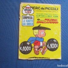 Cómics: CORRIERE DEI PICCOLI N.º 30 / ANNO LXII / 1970 - SETTIMANALE DEI RAGAZZI ITALIANI -- IN ITALIANO --. Lote 170502028