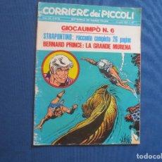 Cómics: CORRIERE DEI PICCOLI N.º 33 / ANNO LXII / 1970 - SETTIMANALE DEI RAGAZZI ITALIANI -- IN ITALIANO --. Lote 170502304