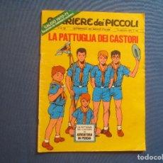 Cómics: CORRIERE DEI PICCOLI N.º 38 / ANNO LXII / 1970 - SETTIMANALE DEI RAGAZZI ITALIANI -- IN ITALIANO --. Lote 170504096