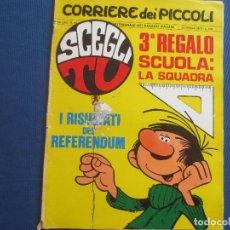Cómics: CORRIERE DEI PICCOLI N.º 43 / ANNO LXII / 1970 - SETTIMANALE DEI RAGAZZI ITALIANI -- IN ITALIANO --. Lote 170504708