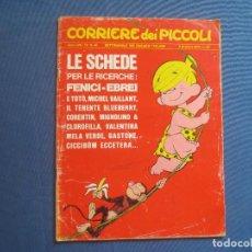 Cómics: CORRIERE DEI PICCOLI N.º 49 / ANNO LXII / 1970 - SETTIMANALE DEI RAGAZZI ITALIANI -- IN ITALIANO --. Lote 170505104