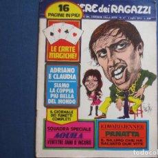 Cómics: CORRIERE DEI RAGAZZI N.º 27 / 1972 - SETTIMANALE ILLUSTRATO DEL CORRIERE DELLA SERA - IN ITALIANO --. Lote 170507084