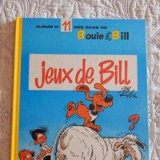 Cómics: BOULE ET BILL - JEUX DE BILL N. 11 DES GAGS. Lote 174020778