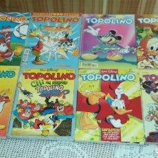 Cómics: LOTE 8 COMICS TOPOLINO DE WALT DISNEY (EN ITALIANO). Lote 174082573
