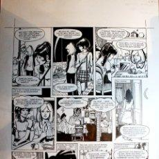 Comics: PAGINA ORIGINAL. ESTHER Y SU MUNDO (PATTY'S WORLD TOMO 04 PAG 18 1974) DE PURITA CAMPOS. Lote 175550522