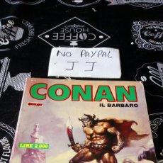 Cómics: ANTIGUO CÓMIC EN ITALIANO ITALIA CONAN EL BARBARO TOMO 2 TAPA BLANDA AÑO 1986. Lote 176978797