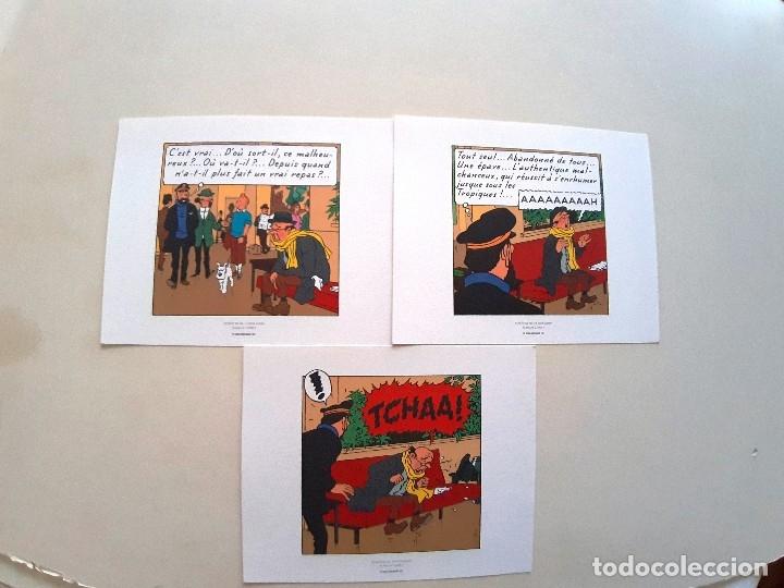 LAMINAS TINTIN - TRES HOJAS (Tebeos y Comics - Comics Lengua Extranjera - Comics Europeos)