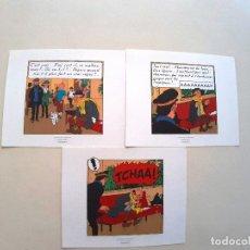 Cómics: LAMINAS TINTIN - TRES HOJAS. Lote 177323700