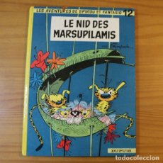Cómics: SPIROU ET FANTASIO 12 LE NID DES MARSUPILAMIS, FRANQUIN. DUPUIS 1967 TAPA DURA EN FRANCES. Lote 178995581