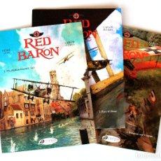Cómics: LA SERIE ' RED BARON ' POR CARLOS PUERTA Y PIERRE VEYS ● 3 VOL. 48/48/64 PP (INGLÉS, CINEBOOK 2015). Lote 182016483