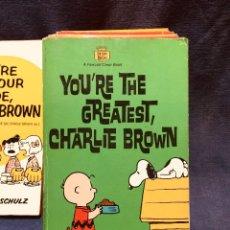 Cómics: LOTE 10 LIBROS BY CHARLES M. SCHULZ CHARLIE BROWN . Lote 182360410