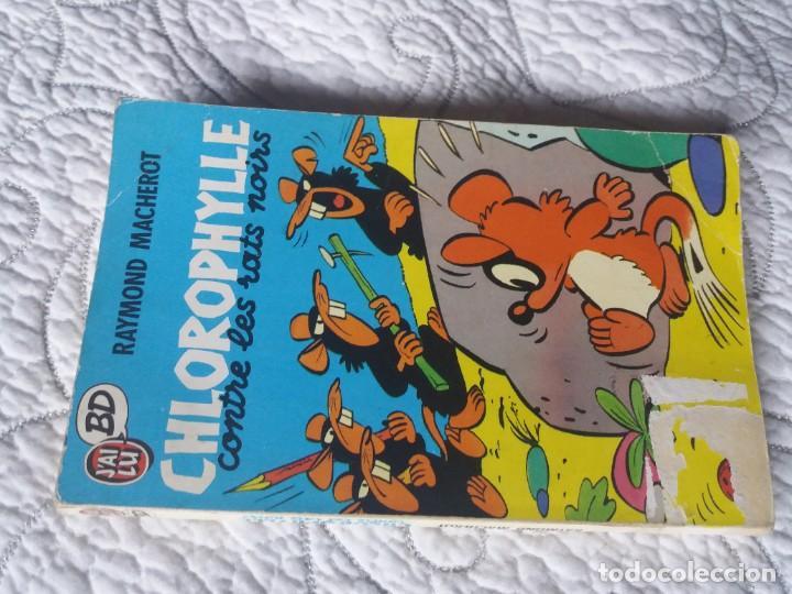 Cómics: Clorofila y las Ratas negras. Raymond Macherot. Libro de bolsillo. En francés original. Jai Lu BD. - Foto 4 - 183410448