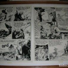 Cómics: COMANCHE HERMANN, 2 FILMS ÁCETATE ORIGINAUX , 2 PAGES D'ALBUMS DIFFÉRENT . ORIGINALES. Lote 183451353