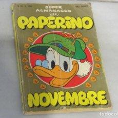 Cómics: SUPER ALMANACCO DI PAPERINO. Nº 65. WALT DISNEY. NOVEMBRE 1985. EN ITALINAO. Lote 188685587