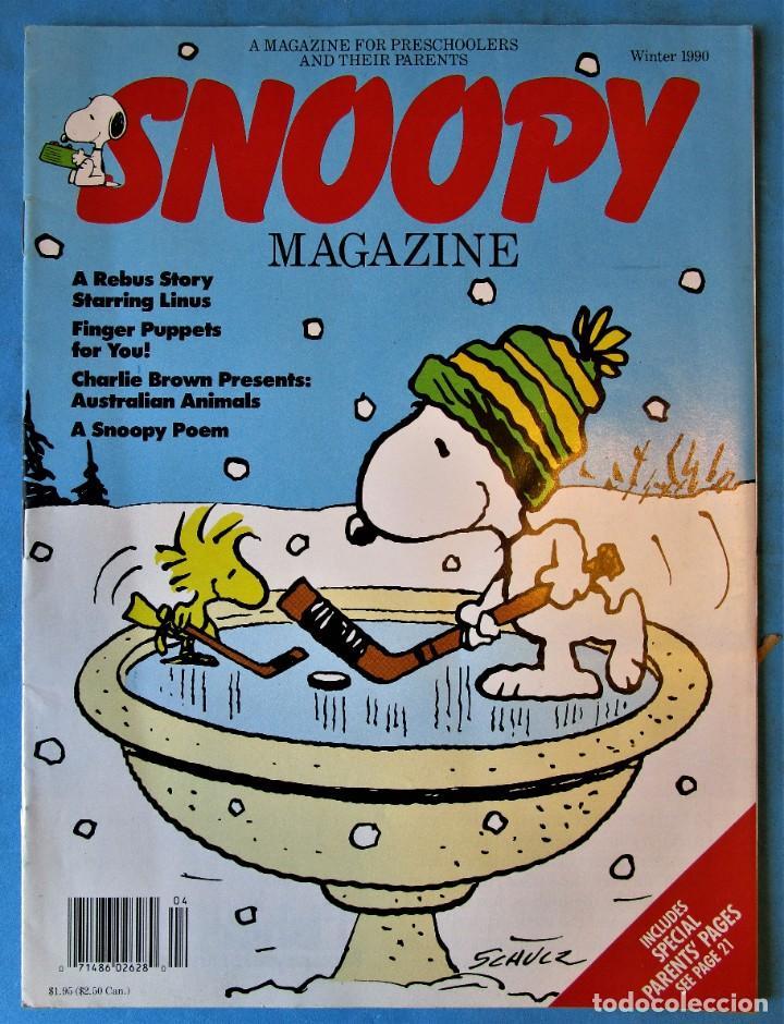 SNOOPY MAGAZINE - WINTER 1990 - INCLUDES POSTER - EN INGLÉS (Tebeos y Comics - Comics Lengua Extranjera - Comics Europeos)