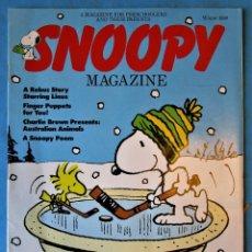 Cómics: SNOOPY MAGAZINE - WINTER 1990 - INCLUDES POSTER - EN INGLÉS. Lote 188793748