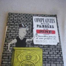 Cómics: COMPLAINTES SANS PAROLES DE: SINÉ AVEC D'HORRIBLES DÉTAILS ET UNE PRÉFACE DE MARCEL AYMÉ.. Lote 191826963