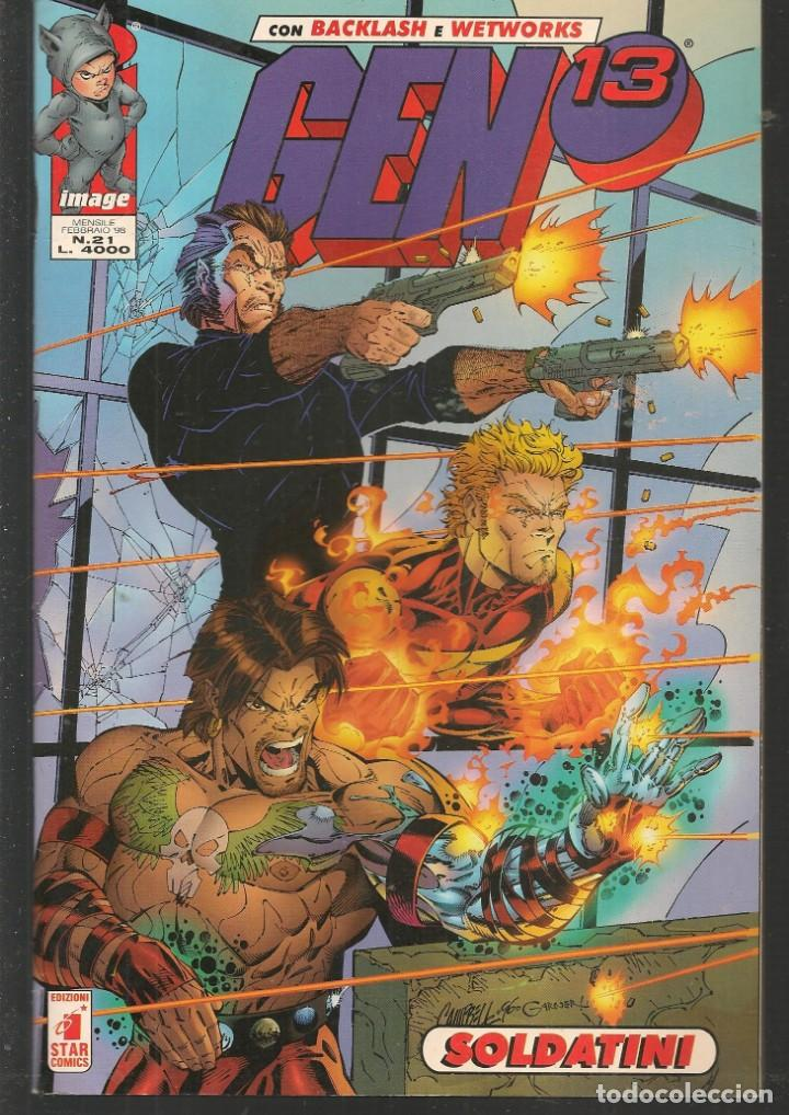 Cómics: GEN 13. Nº 21. BACKLASH - WETWORKS. EN ITALIANO (ST/MG1) - Foto 1 - 194230421