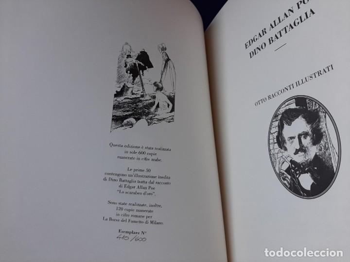 Cómics: Otto racconti illustrati. Dino Battaglia, edgar Allan Poe. Lo scarabeo 1999. Edición limitada. - Foto 4 - 194635426
