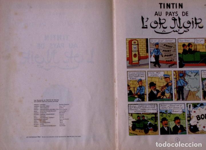 Cómics: TINTIN Au Pays De LOr Noir. Casterman, Francia, 1963. En francés. - Foto 3 - 194661952