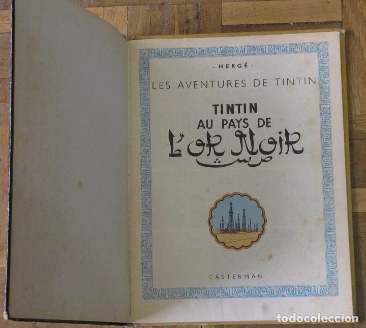 Cómics: TINTIN Au Pays De LOr Noir. Casterman, Francia, 1963. En francés. - Foto 4 - 194661952