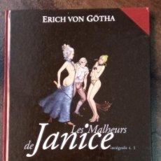 Cómics: ERICH VON GÖTHA: LES MALHEURS DE JANICE. INTÉGRALE TOME 1. Lote 194694625