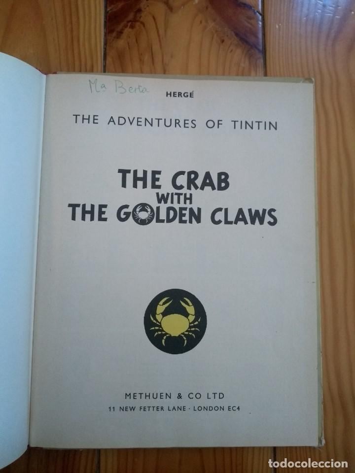 Cómics: Tintin: The Crab with the Golden Claws - Methuen 1964 - El Cangrejo de las Pinzas de Oro - UK - Foto 5 - 194911305
