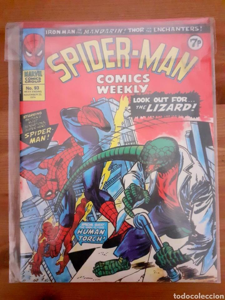 SPIDERMAN MARVEL WEEKLY COMICS N 93, 1974 UK. EN INGLÉS (Tebeos y Comics - Comics Lengua Extranjera - Comics Europeos)