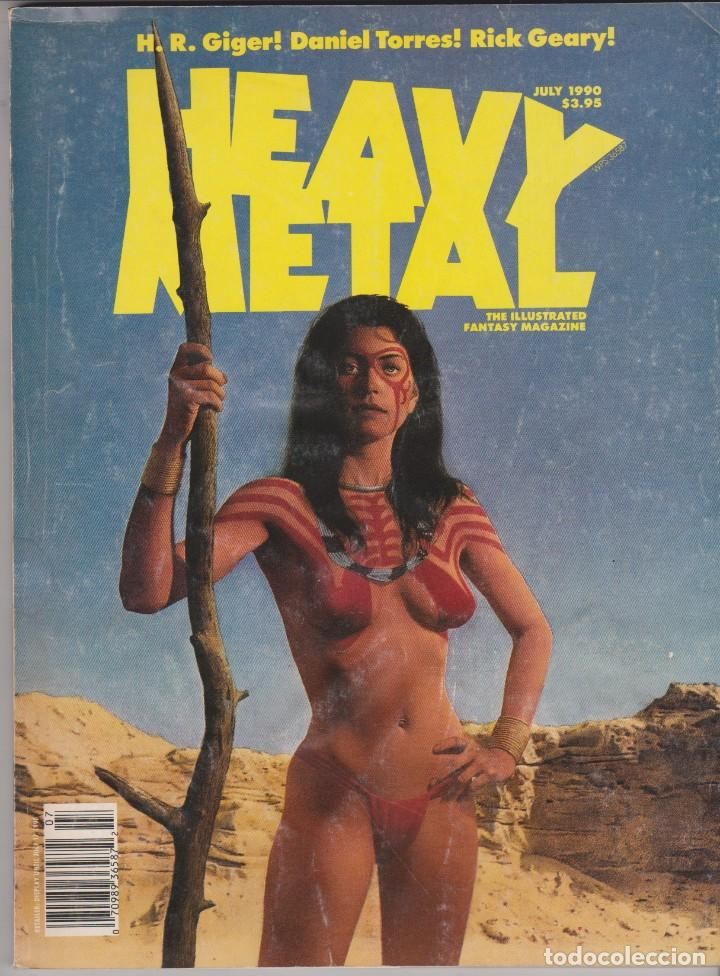 HEAVY METAL -- JULY 1990 (Tebeos y Comics - Comics Lengua Extranjera - Comics Europeos)