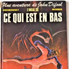 Cómics: COMIC FRANCES - UNE AVENTURE DE JOHN DIFOOL - CE QUI EST EN BAS - COLLECTION ELDORADO - TAPA DURA. Lote 195001735