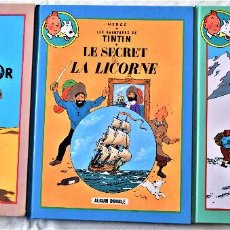 Cómics: COMICS FRANCES - LES AVENTURAS DE TINTIN - ALBUM DOUBLE - HERGÉ . Lote 195077403