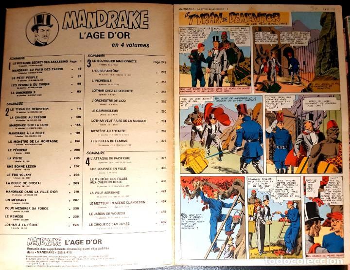 Cómics: MANDRAKE LAGE DOR (ED. DES REMPARTS) 499 PGS DOMINICALES A GRAN TAMAÑO. EN FRANCÉS. 1935-1944. - Foto 3 - 195377266
