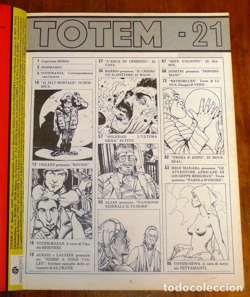 Cómics: TOTEM Nº 21 ; 5/6/82. - EN ITALIANO - Foto 2 - 195380988
