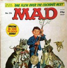 Cómics: MAD MAGAZINE UK EDITION, NÚMERO 174, OCTUBRE AÑO 1976, REVISTA MAD EDICIÓN BRITÁNICA, #174. Lote 195469541