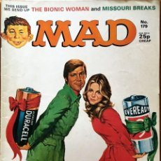Cómics: MAD MAGAZINE UK EDITION, NÚMERO 179, MARZO AÑO 1977, REVISTA MAD EDICIÓN BRITÁNICA, #179, DURACELL. Lote 195473890