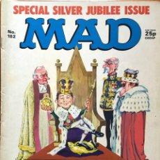Cómics: MAD MAGAZINE UK EDITION, NÚMERO 182, AÑO 1977, REVISTA MAD EDICIÓN BRITÁNICA, #182, ALFRED E. NEUMAN. Lote 195473965