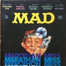 Cómics: MAD MAGAZINE UK EDITION, NÚMERO 183, JULIO AÑO 1977, REVISTA MAD EDICIÓN BRITÁNICA, #183. Lote 195476701