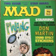 Cómics: MAD MAGAZINE UK EDITION, NÚMERO 188, DICIEMBRE AÑO 1977, REVISTA MAD EDICIÓN BRITÁNICA, #188. Lote 195476915