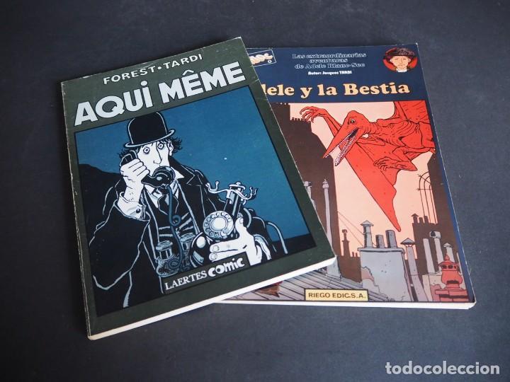 JACQUES TARDI. LOTE CON DOS ÁLBUMES. AQUI MEME Y ADELE Y LA BESTIA (Tebeos y Comics - Comics Lengua Extranjera - Comics Europeos)