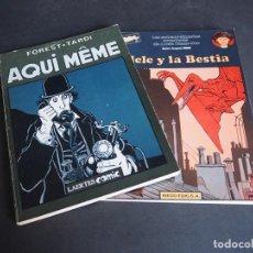 Cómics: JACQUES TARDI. LOTE CON DOS ÁLBUMES. AQUI MEME Y ADELE Y LA BESTIA. Lote 196266685