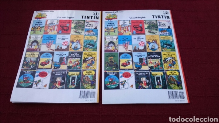 Cómics: TINTIN EN INGLÉS ediciones del prado pasta blanda - Foto 2 - 196360521