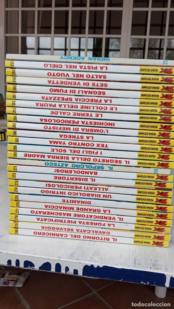 Cómics: TEX 256 AL 280 ITALIANO, 25 CÓMICS MUY NUEVOS O COMO NUEVOS - - Foto 30 - 198251376