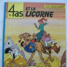 Cómics: LES 4 AS ET LA LICORNE - FRANCES - 1980. Lote 199037016