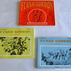 Cómics: LOTE DE 3 TOMOS DE FLASH GORDON. ALEX RAYMOND. ÉDITIONS SERG. PARÍS 1968-1973. GRAN FORMATO. Lote 201555465