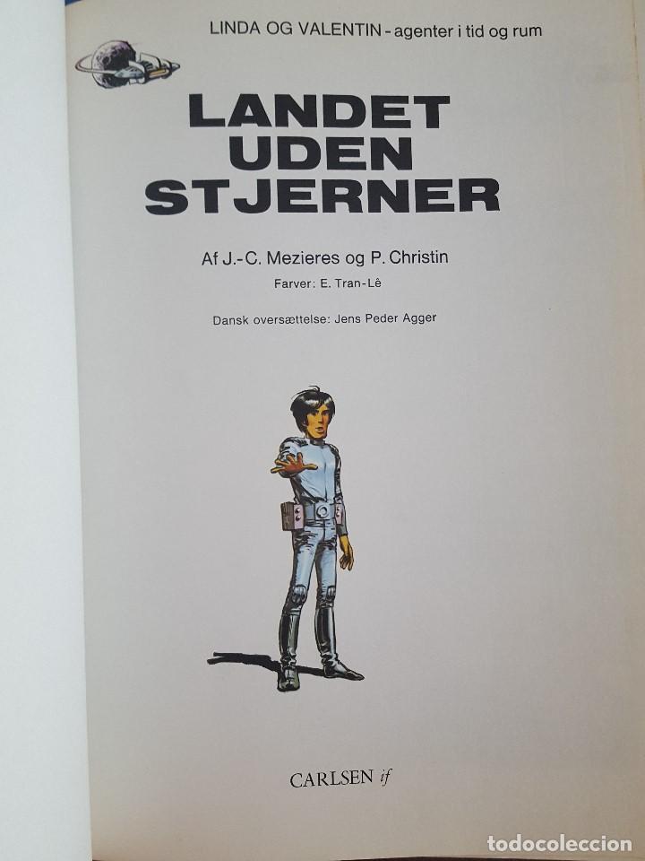 Cómics: COMIC / LINDA OG VALENTIN - AGENTER I TID OG RUM / LANDET UDEN STJERNER / EDIT. DARGAUD 1972 BELGICA - Foto 2 - 203541376
