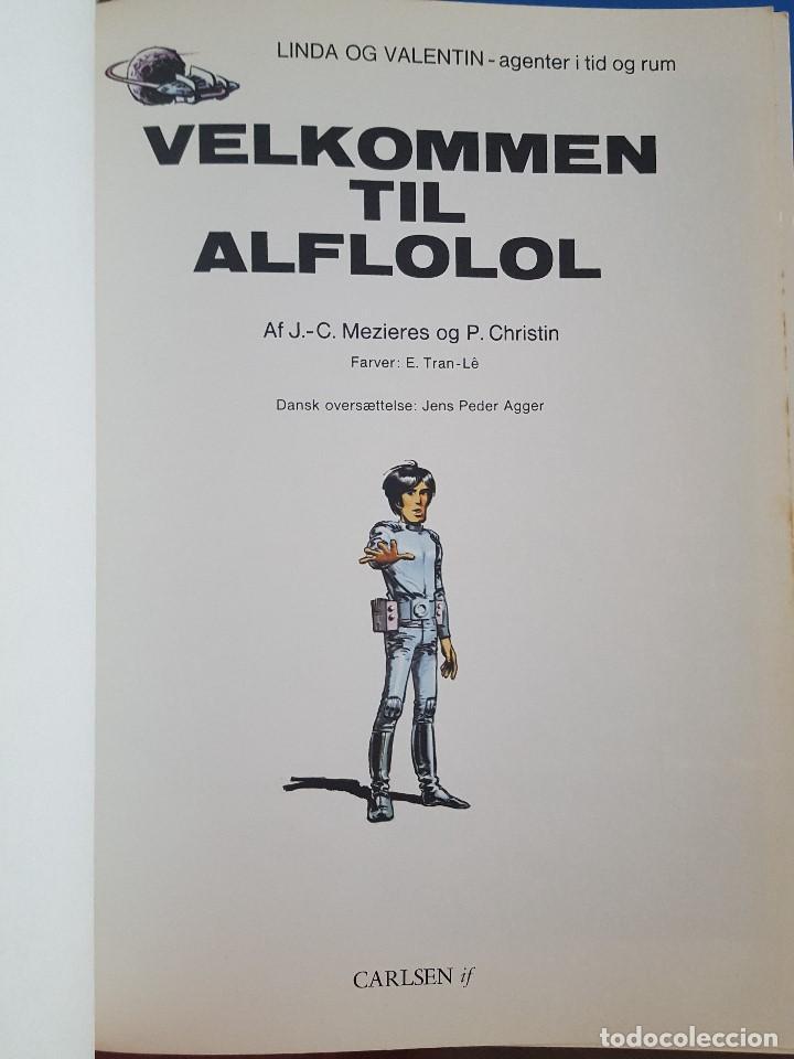 Cómics: COMIC / LINDA OG VALENTIN - AGENTER I TID OG RUM / VELKOMEN TIL ALFLOLOL/ EDIT. DARGAUD 1972 BELGICA - Foto 2 - 203541603