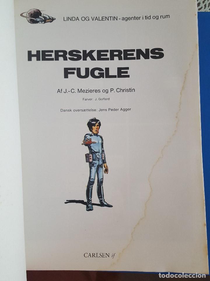 Cómics: COMIC / LINDA OG VALENTIN - AGENTER I TID OG RUM / HERSKERENS FUGLE / EDIT. DARGAUD 1973 BELGICA - Foto 2 - 203541813