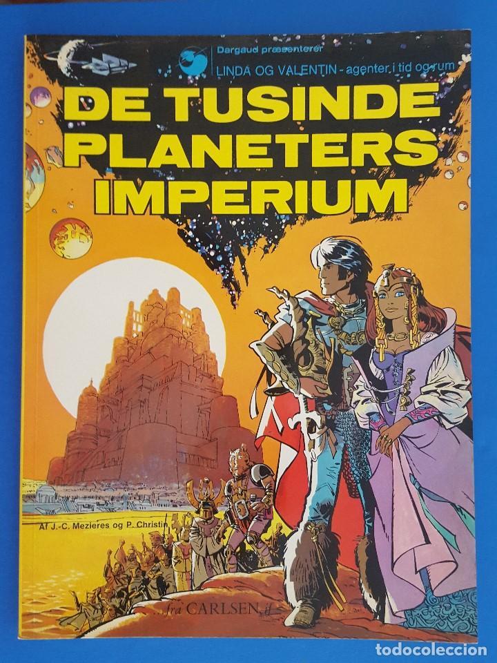 COMIC /LINDA OG VALENTIN-AGENTER I TID OG RUM / DE TUSINDERS PLANETERS IMPERIUM /DARGAUD1972 BELGICA (Tebeos y Comics - Comics Lengua Extranjera - Comics Europeos)
