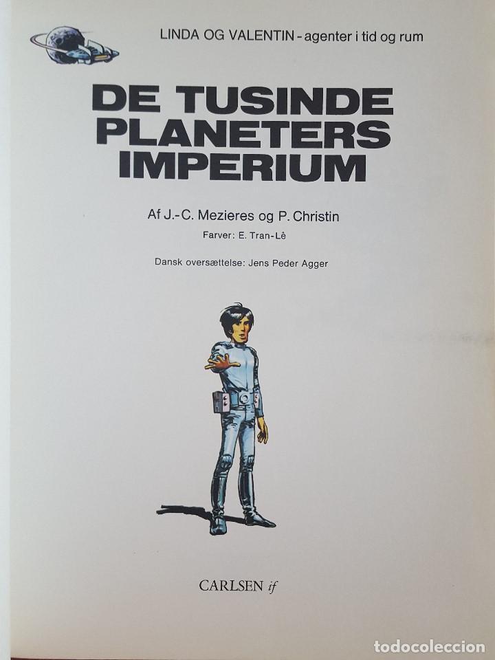 Cómics: COMIC /LINDA OG VALENTIN-AGENTER I TID OG RUM / DE TUSINDERS PLANETERS IMPERIUM /DARGAUD1972 BELGICA - Foto 2 - 203542573